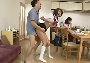 Japanese school girl multi spew