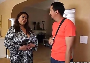 Busty Fat Asian Model Gets Massage outlander Latino Stud