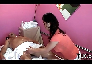 Filthy massage with lift ending