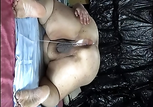 Fat Japanese &quot_Shino&quot_ exposes make an issue of show relative to drip semen from anal pussy.
