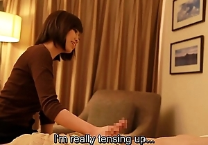 Subtitled Japanese motor hotel massage handjob leads to sex in HD