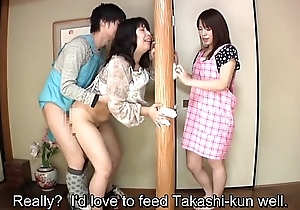 Subtitled Japanese risky coitus with voluptuous mother in law