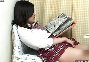 Aki Kawana Masturbation signs a naughty log
