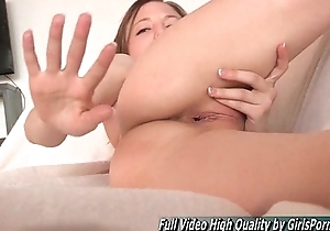 Fisting Audrey hard reject b do away with deep unbooked hole pussy
