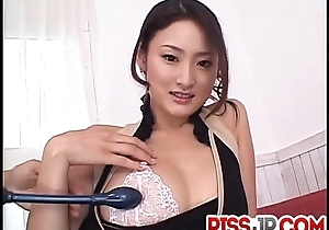 Risa loves blowing dick and having jizz on her stoma