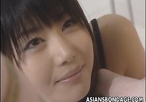 Asian lesbians brake it into a hot bdsm boxing-match