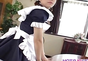 Naughty Natsumi is a hot Asian maid getting earn cosplay sex