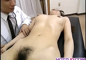 Saki Shiina has hairy cunt measured increased by sucks doctor phallus