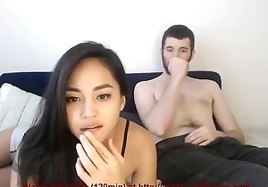Gorgeous asian having sexual connection with her boyfriend